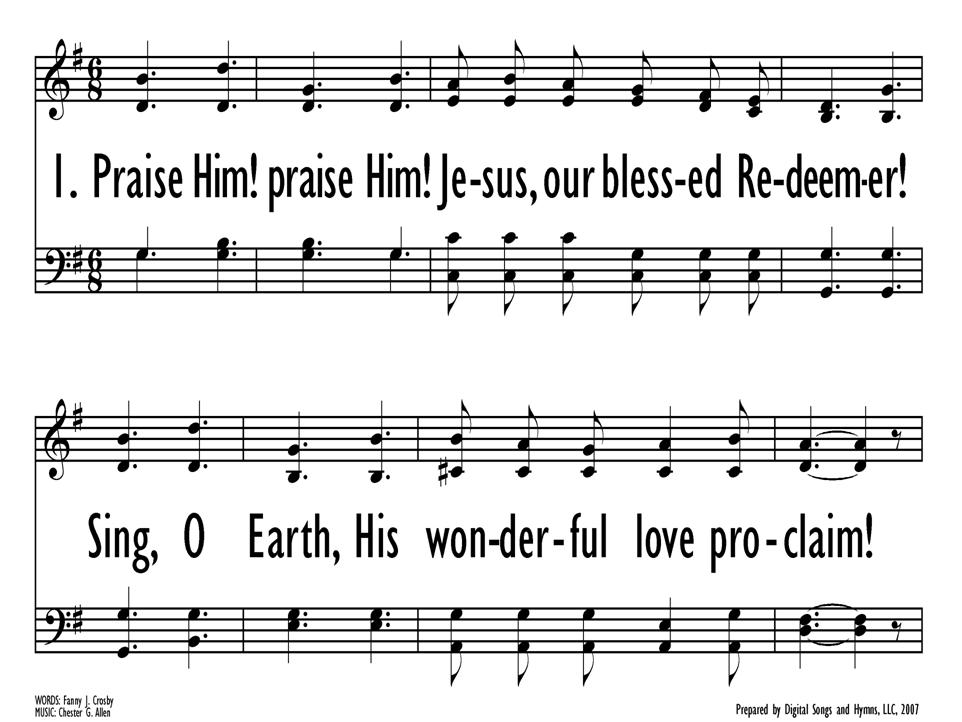 Lyric blessed redeemer lyrics : Songs for the Sunday School 11. Praise him, praise him, Jesus, our ...
