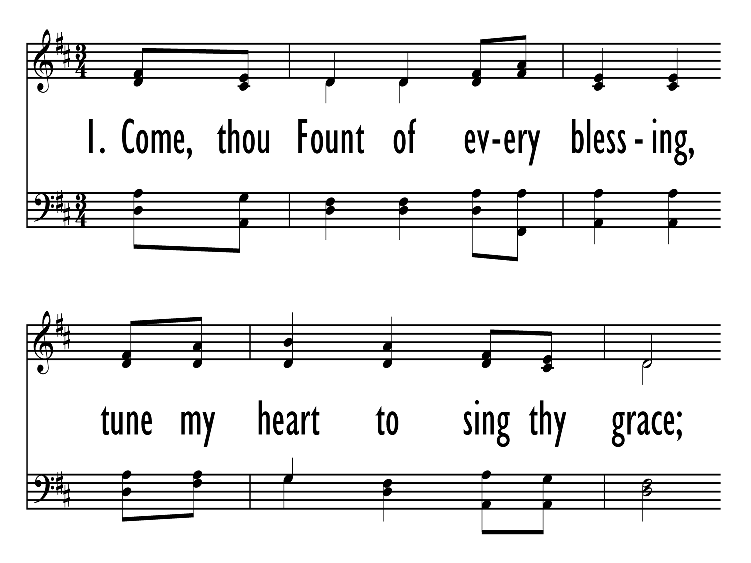 Come Thou Fount Of Every Blessing Hymnary