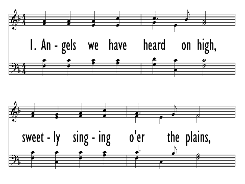 Angels We Have Heard On High Hymnary