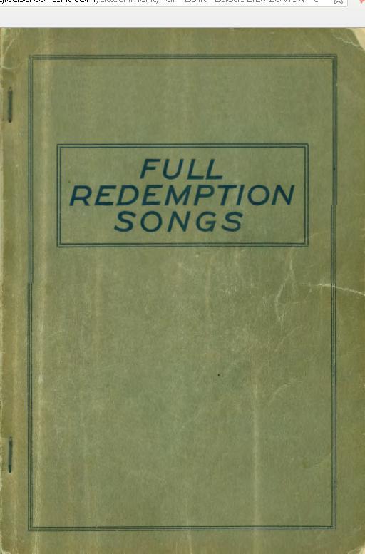 Redeem Hymns Book