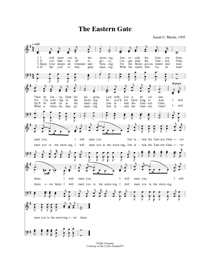 The Cyber Hymnal 1311 I Will Meet You In The Morning Hymnaryorg