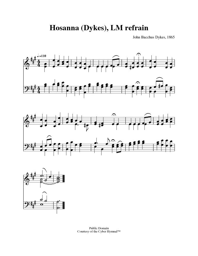 hosanna praise is rising lyrics pdf