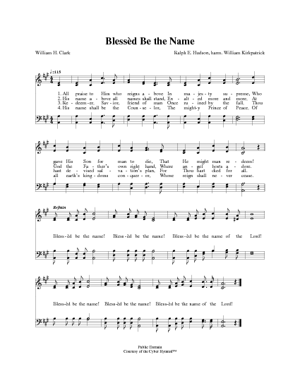 All Praise to Him Who Reigns Above | Hymnary.org