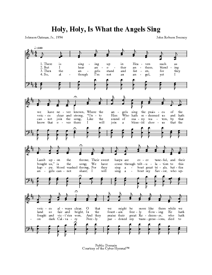 Holy, holy, is what the angels sing | Hymnary org