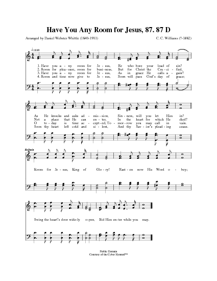 Have You Any Room for Jesus? | Hymnary.org