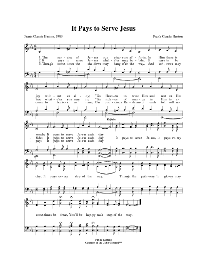 It Pays to Serve Jesus | Hymnary.org