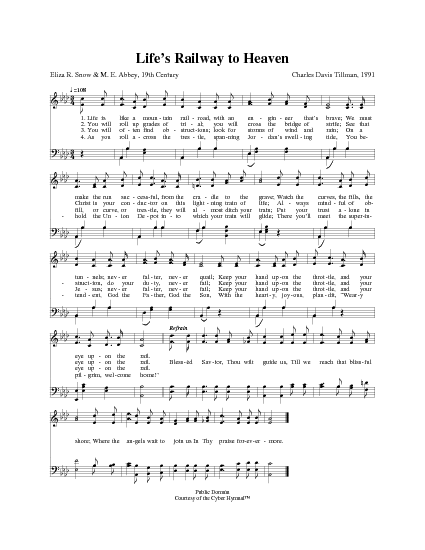 Life\'s railway to heaven | Hymnary.org