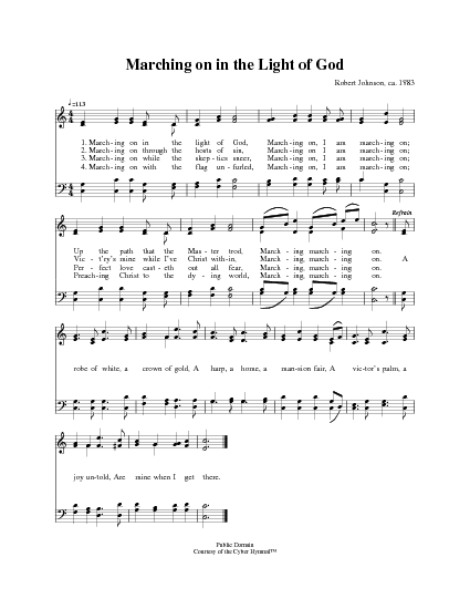 Marching On In The Light Of God Hymnary