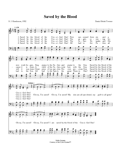 Saved By The Blood Hymnary