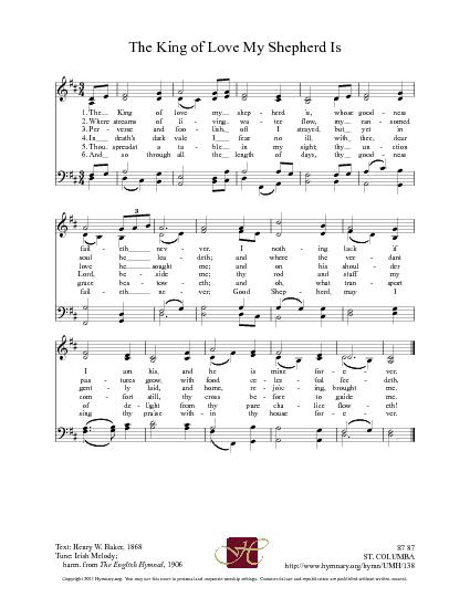 the king of love my shepherd is sheet music - Heart.impulsar.co