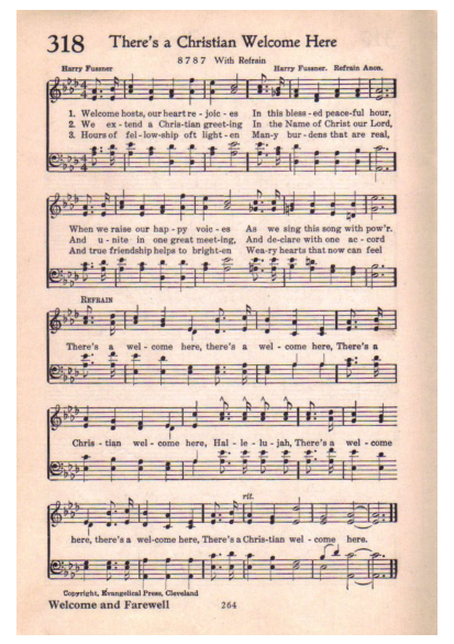 There\'s a Christian welcome here | Hymnary.org