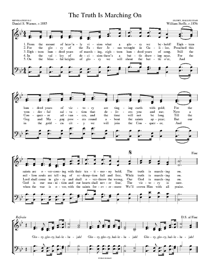 mine eyes have seen the glory chords pdf