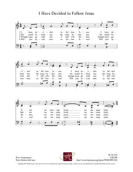 i have decided to follow jesus hymn lyrics f--f.info 2018