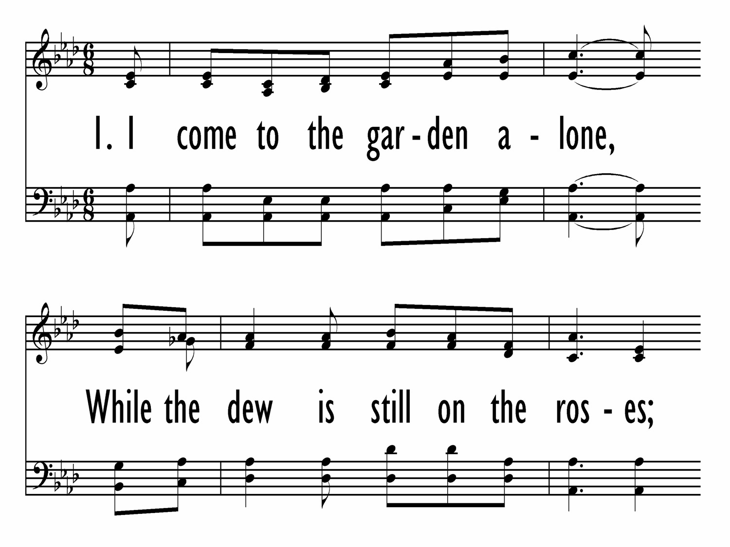 In The Garden Baptist Hymnal 1991 187