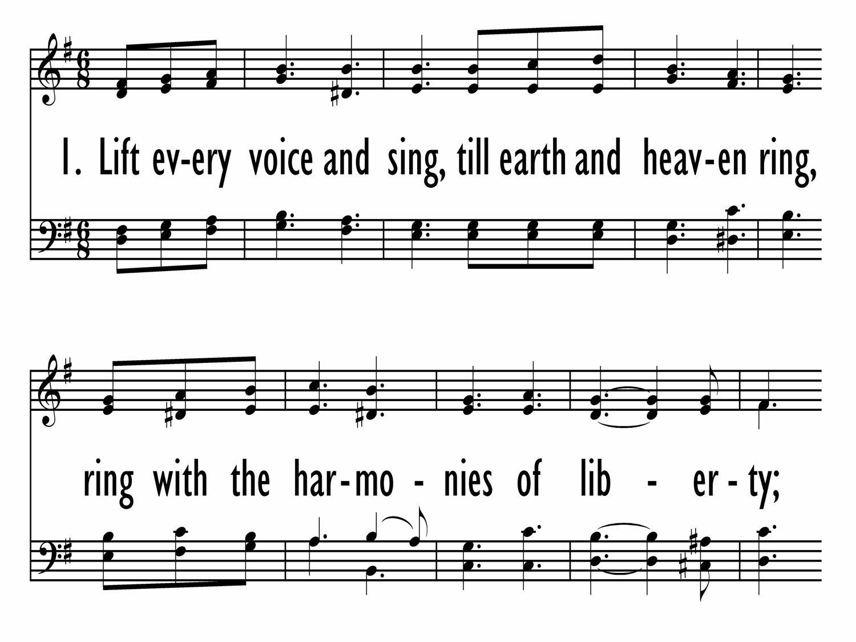 Simplicity image intended for black national anthem lyrics printable