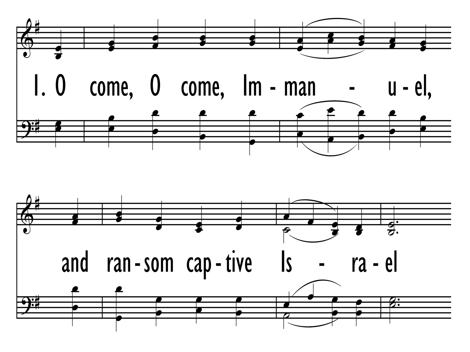 O COME, O COME, IMMANUEL (Gray Psalter 328) - Hymnary.org
