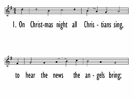 On christmas night all christians sing trinity hymnal 227 hymnary