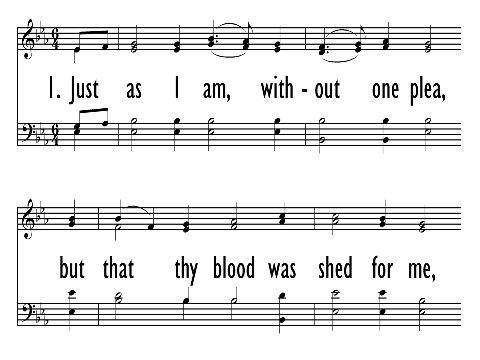Just As I Am Without One Plea Hymnary