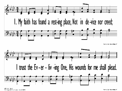 My Faith Has Found a Resting Place | Hymnary org