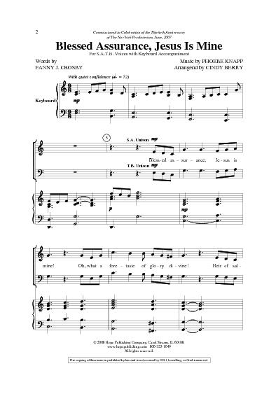 Blessed Assurance Lyrics G Chords
