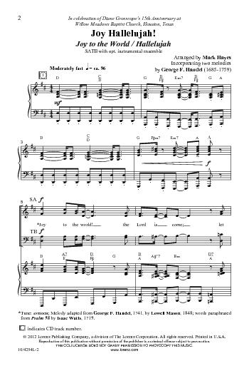 Favorit Joy Hallelujah! (Joy to the World/Hallelujah) - Hymnary.org VQ73
