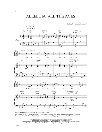 A Mosaic Of Church Melodies: Alleluia,give thanks to the ...