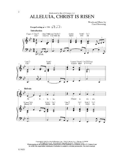 christ is risen chords pdf