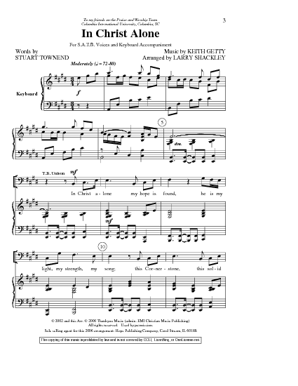 In Christ Alone - Kristian Stanfill, Passion Sheet Music ...