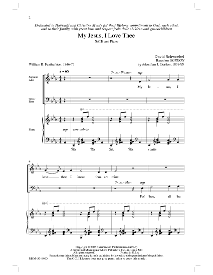 my jesus i love thee piano pdf