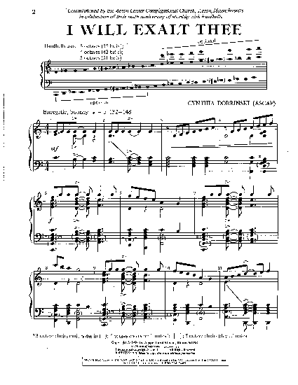 i exalt thee sheet music pdf