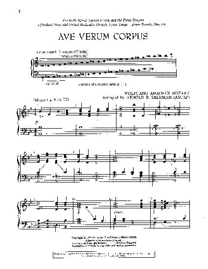 ave verum corpus partition pdf