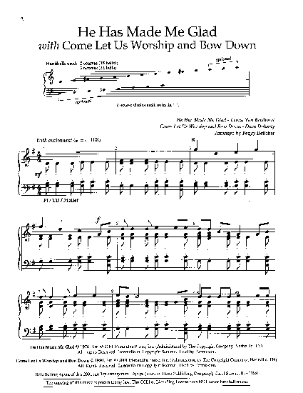 he has made me glad chords pdf