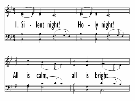 image regarding Silent Night Lyrics Printable identified as STILLE NACHT