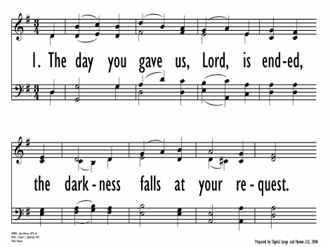 The day thou gavest, Lord, is ended | Hymnary org