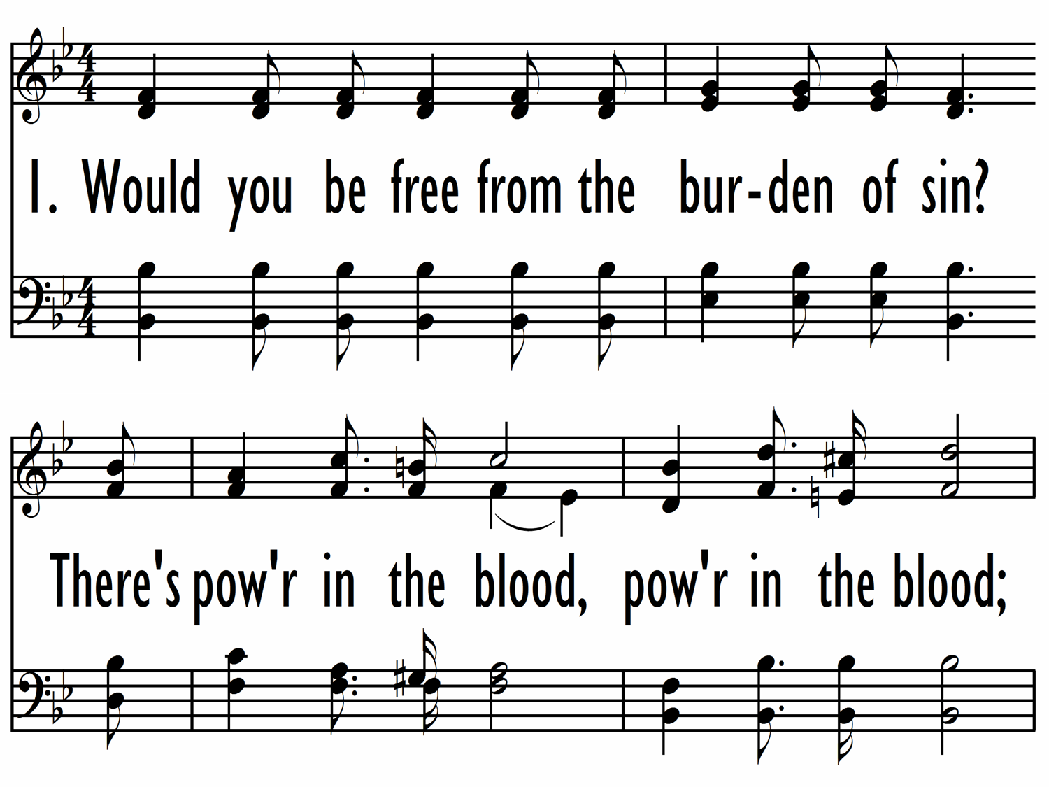 Power In The Blood Hymnary
