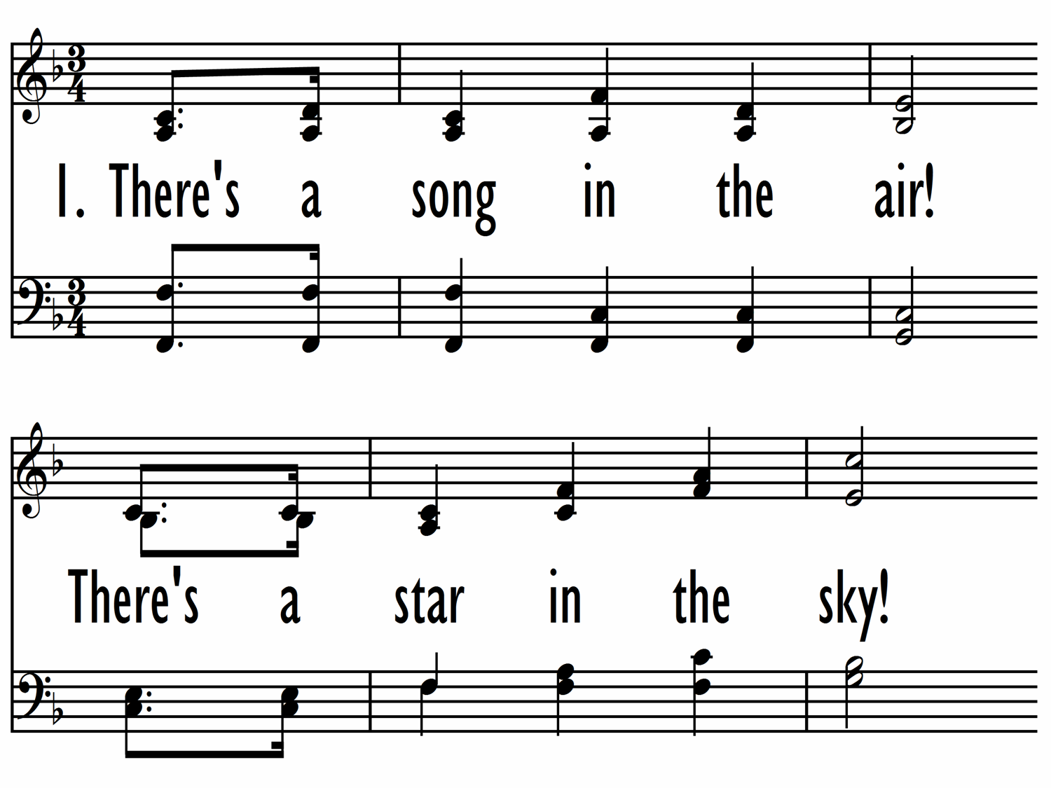 THERE'S A SONG IN THE AIR (Baptist Hymnal 2008/Worship