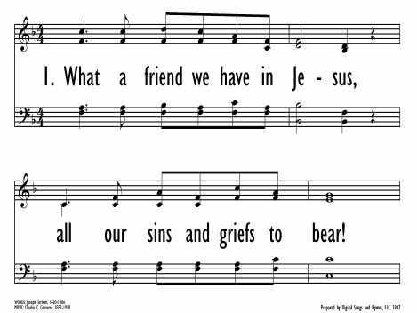 What A Friend We Have In Jesus Hymnary