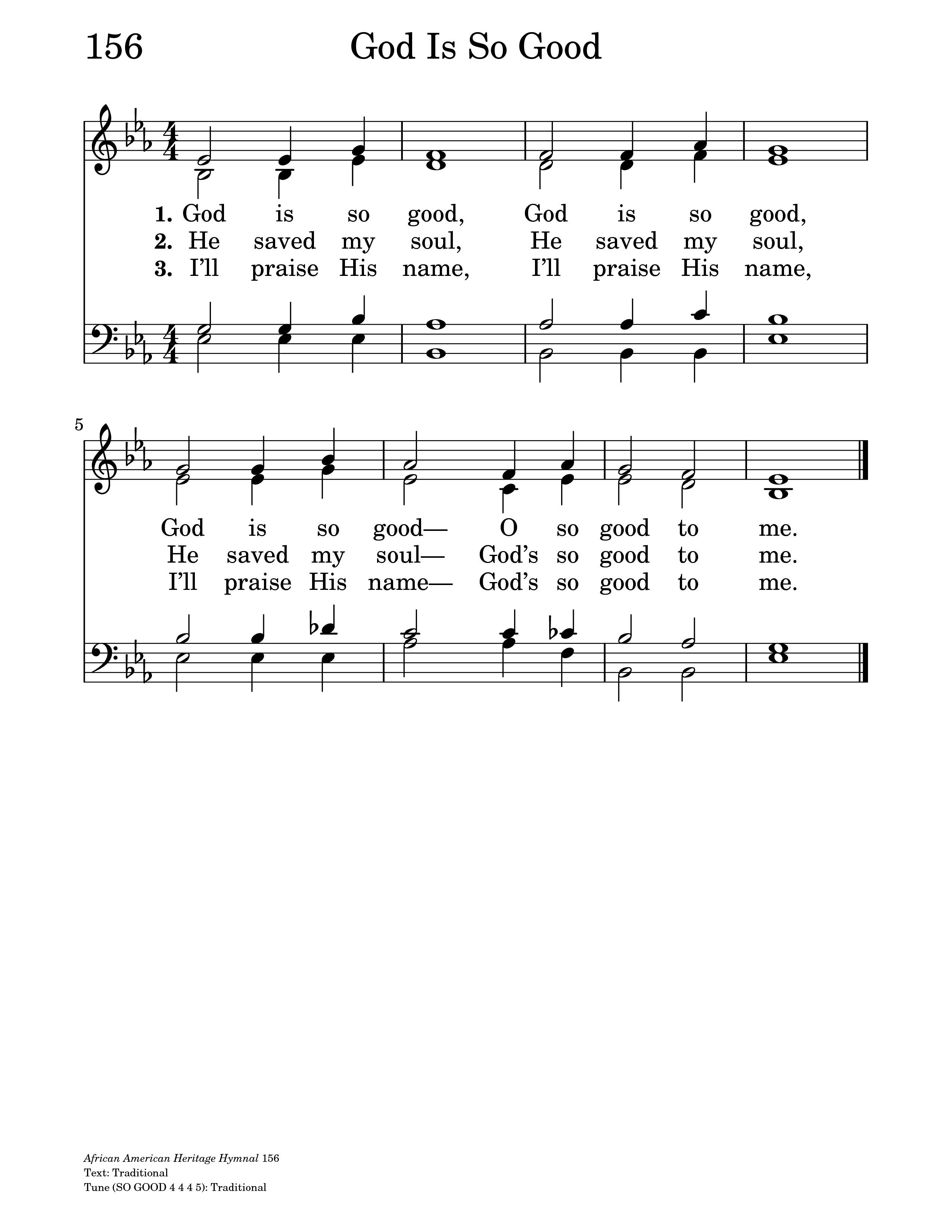 God Is So Good Hymnaryorg