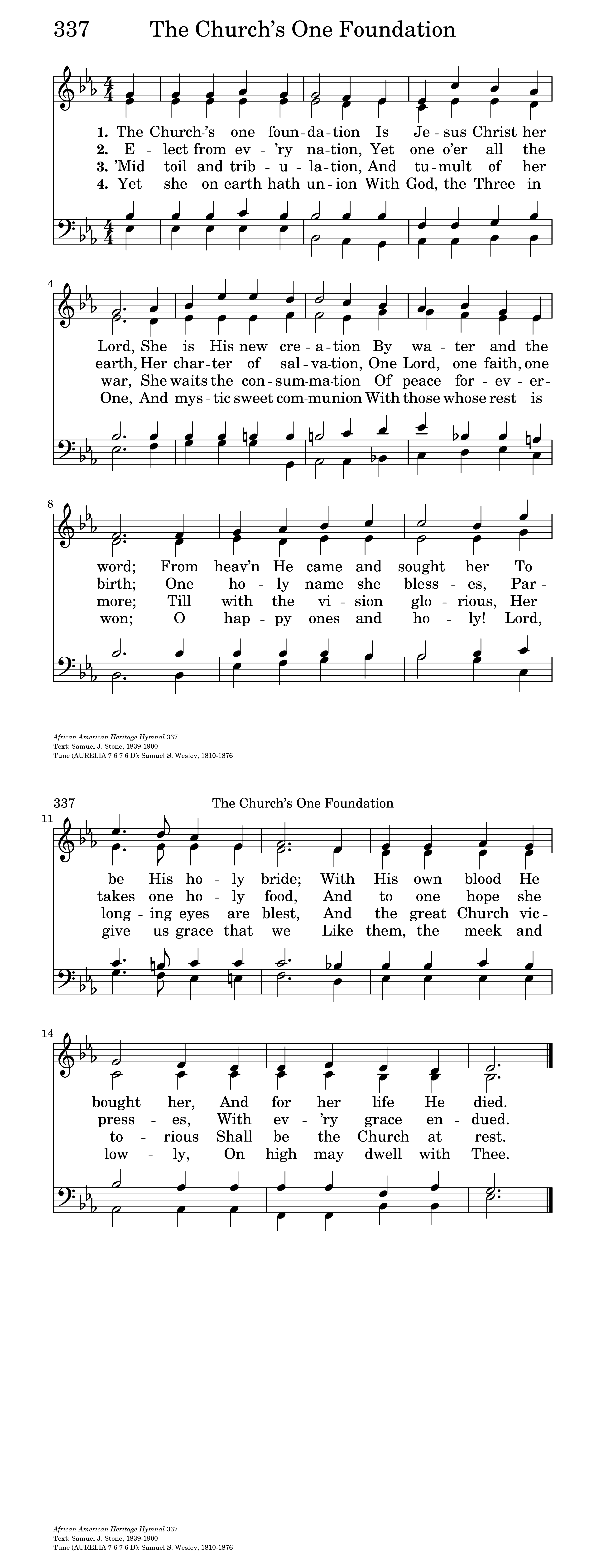 The Church's one foundation | Hymnary org