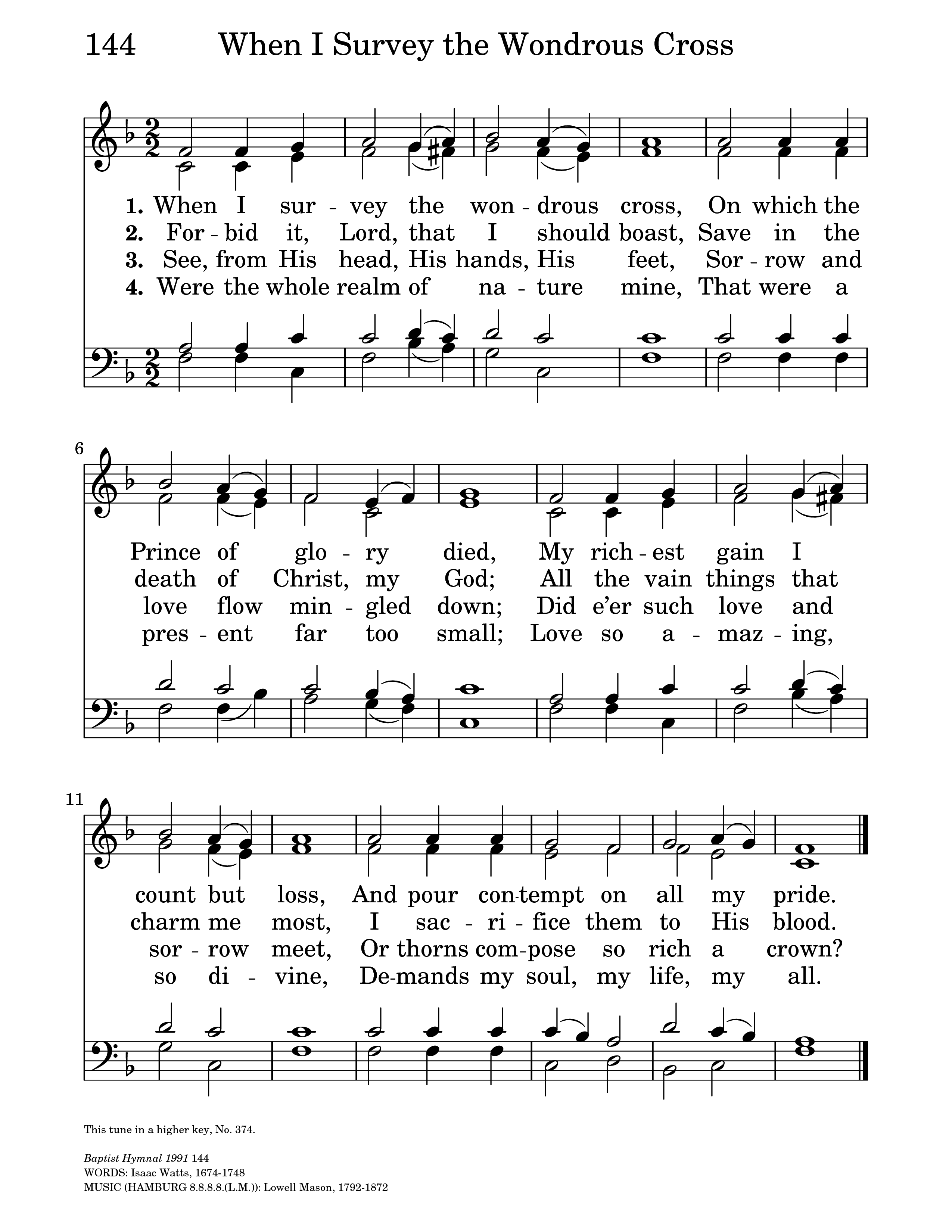 Crucifixion To The World By The Death Of Christ Hymnary