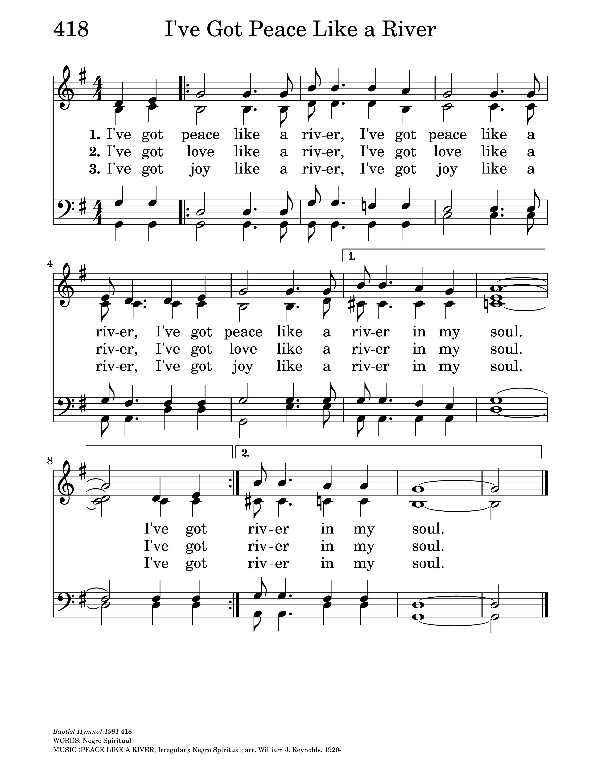 I've Got Peace Like a River | Hymnary org