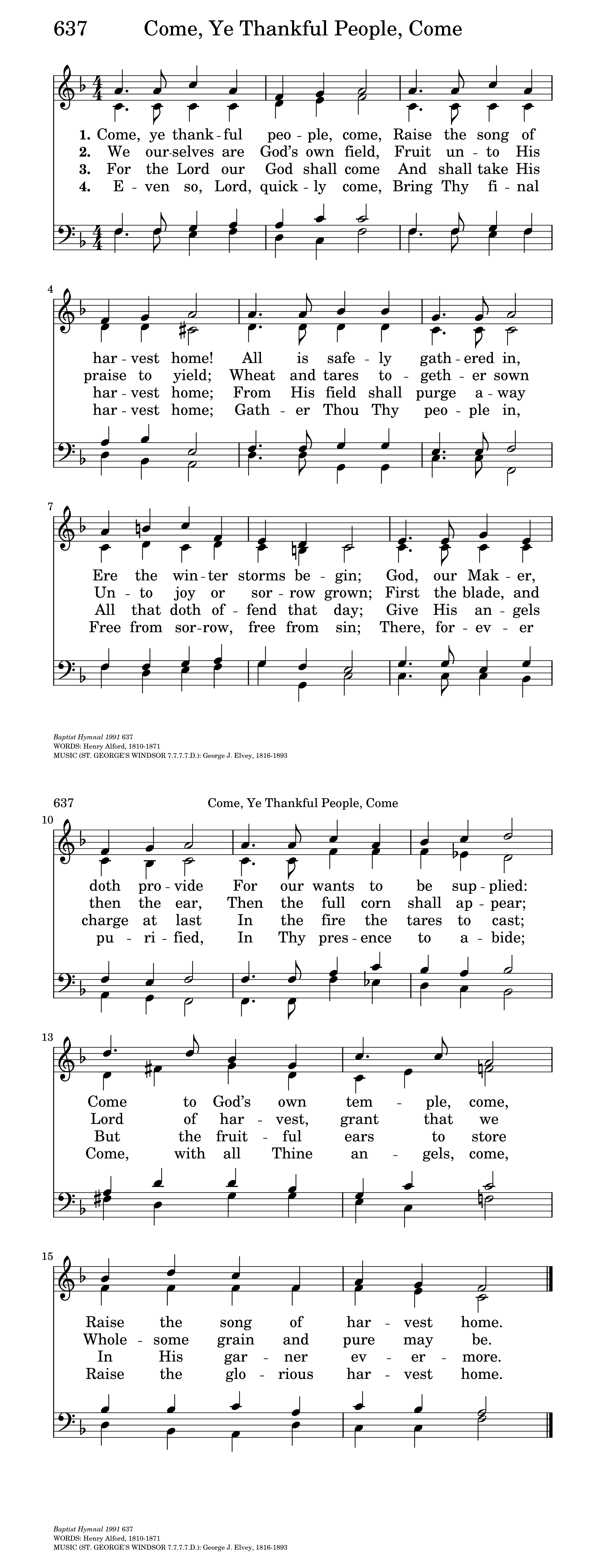 Come Ye Thankful People Come Hymnary
