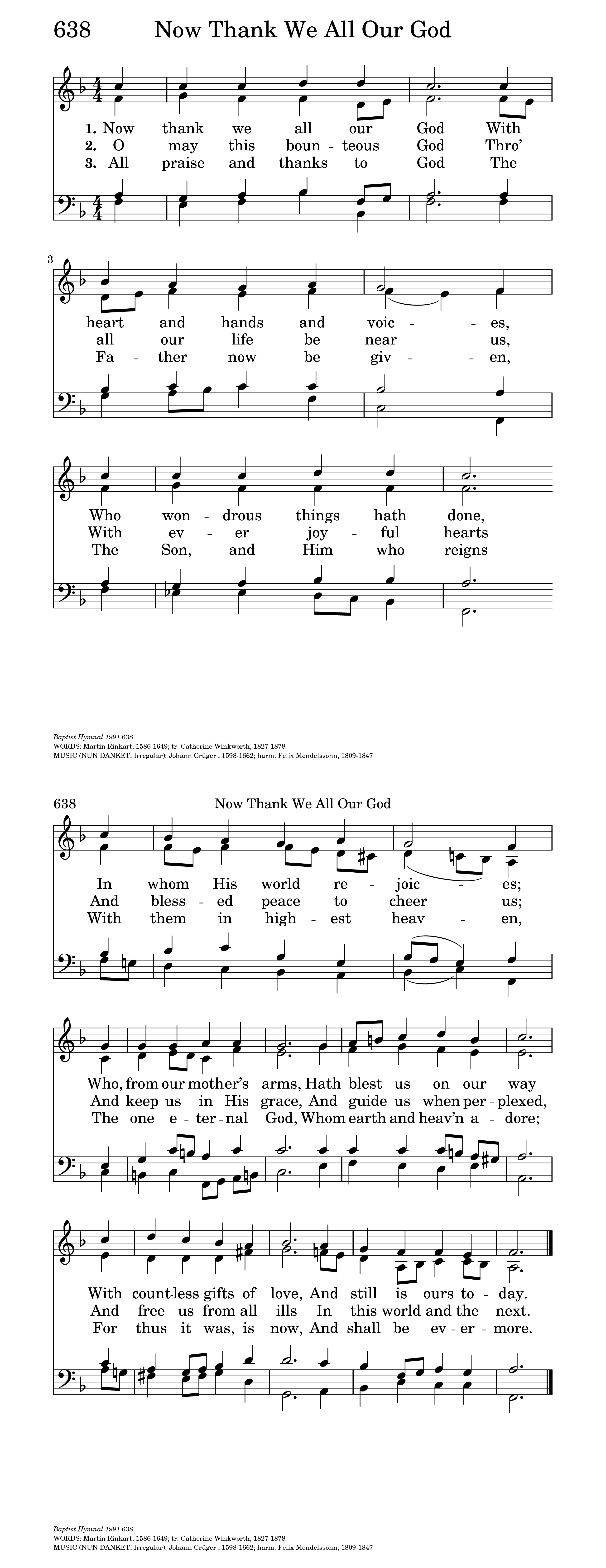Now Thank We All Our God | Hymnary org