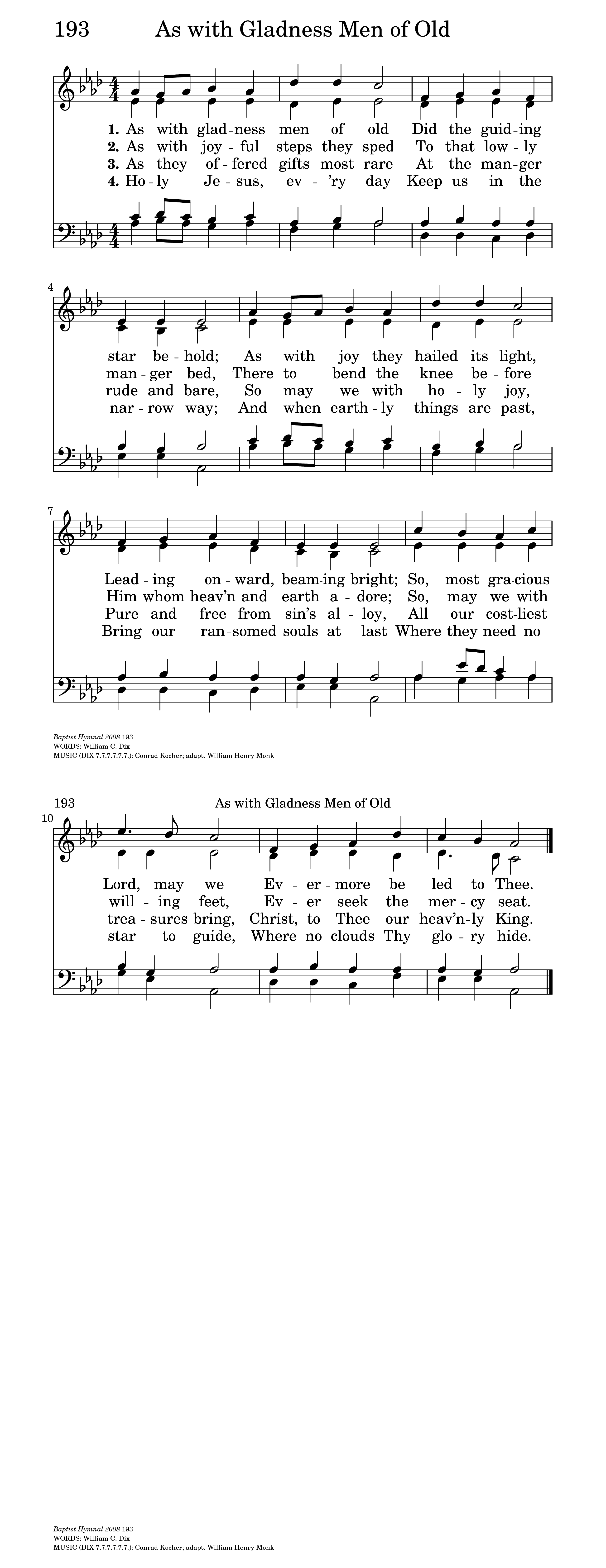 As with Gladness Men of Old | Hymnary.org