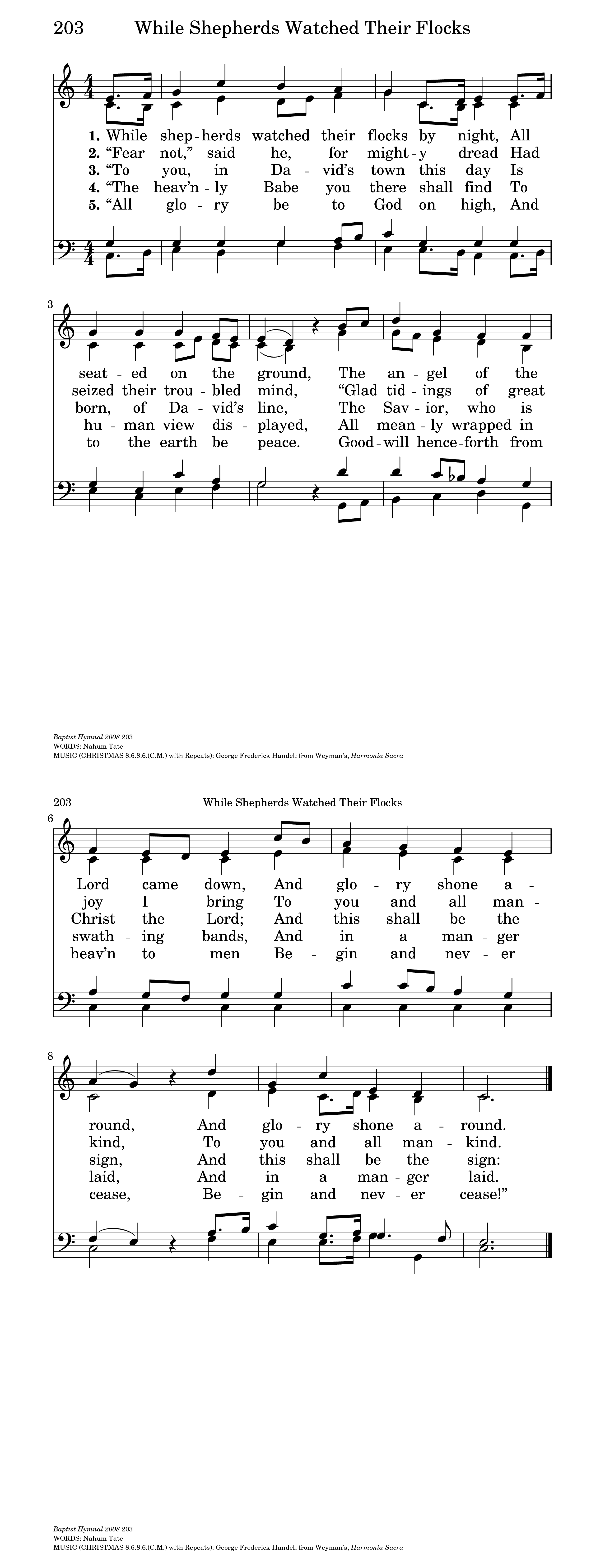 While shepherds watched their flocks | Hymnary org