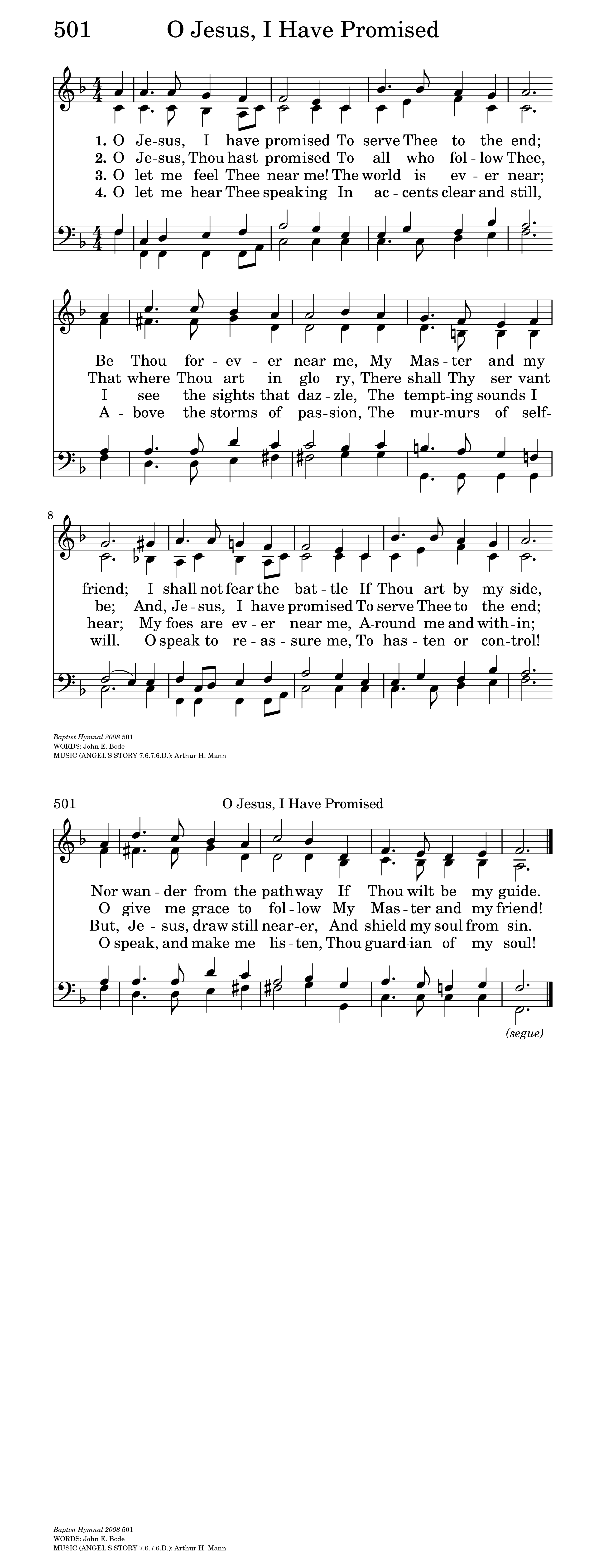O Jesus, I have promised | Hymnary org