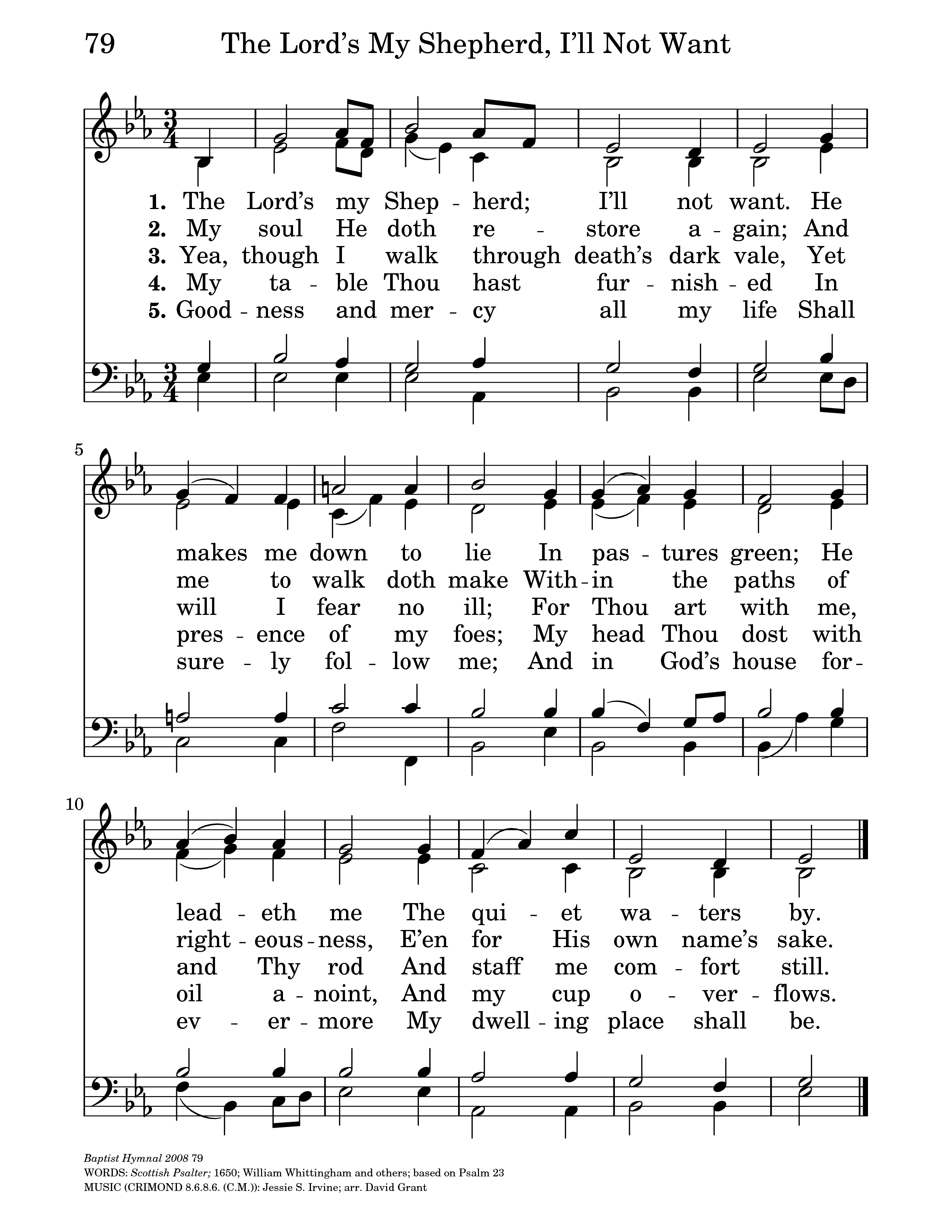 The Lord's My Shepherd | Hymnary org
