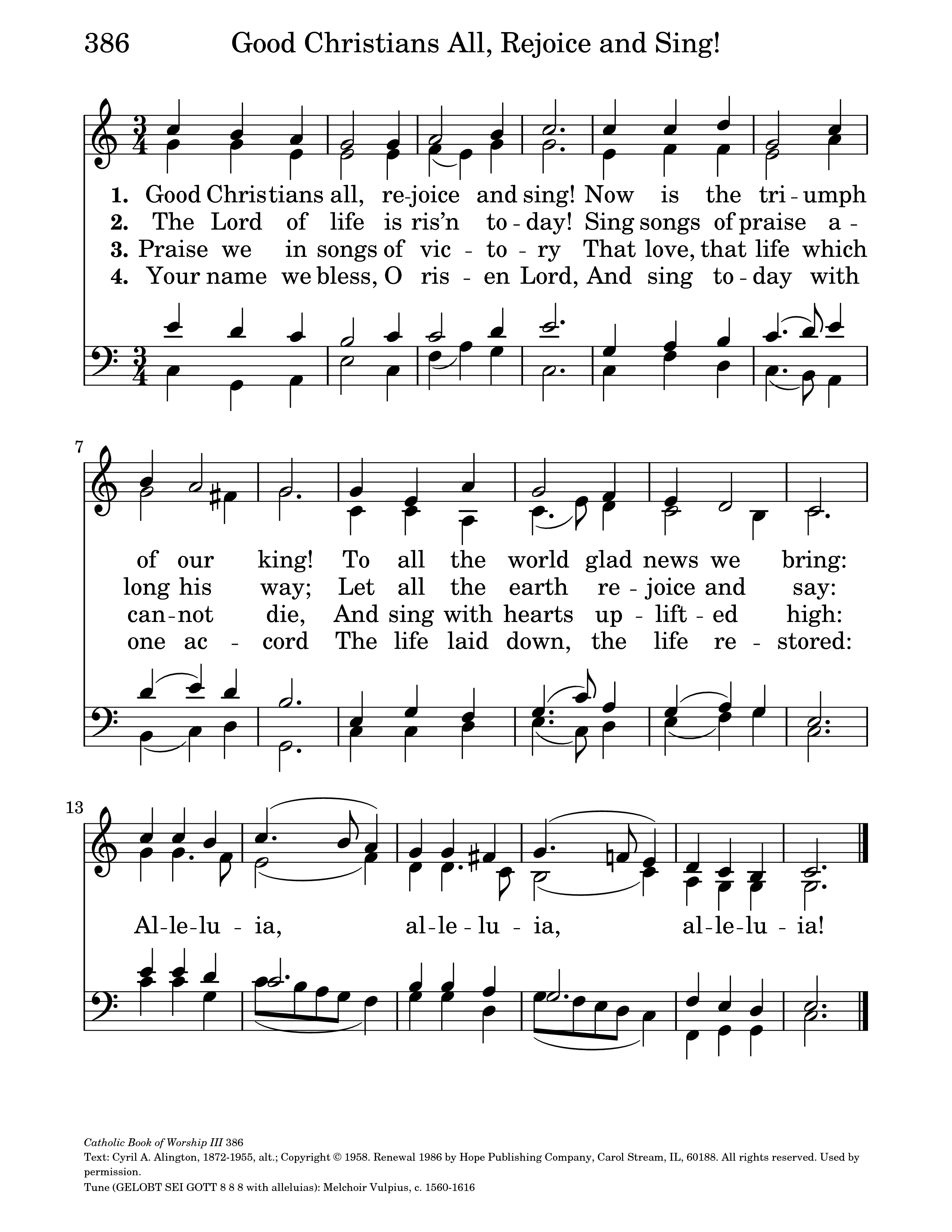 Good Christians All, Rejoice and Sing | Hymnary org