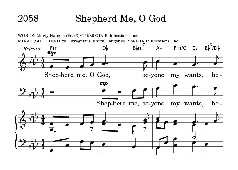 Shepherd Me, O God | Hymnary org