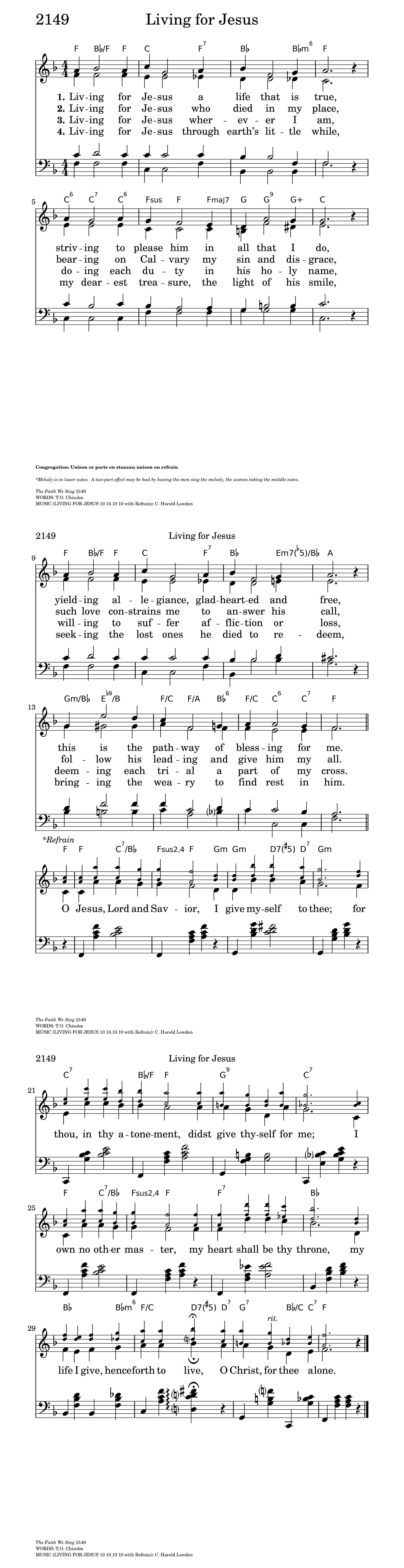 Living For Jesus Hymnary